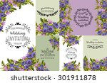 wedding invitation cards with... | Shutterstock .eps vector #301911878
