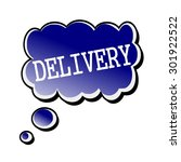 delivery white stamp text on... | Shutterstock . vector #301922522