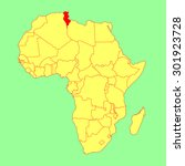 tunisia vector map isolated on... | Shutterstock .eps vector #301923728