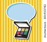 cosmetics theme elements vector ... | Shutterstock .eps vector #301923782