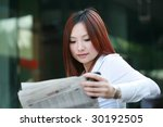 young asian businesswomen...   Shutterstock . vector #30192505