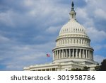 us capitol building dome   ...   Shutterstock . vector #301958786
