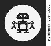 robot icon | Shutterstock .eps vector #301963082