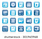 business and office supplies... | Shutterstock .eps vector #301965968