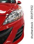 half a modern red small car ... | Shutterstock . vector #30197452