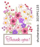 vintage greeting card with...   Shutterstock .eps vector #301991135