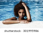 Black Woman In Pool