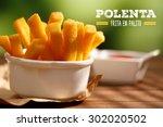 polenta fries | Shutterstock . vector #302020502