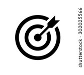 target icon. successful shot in ... | Shutterstock .eps vector #302025566