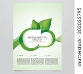 vector eco brochure  flyer... | Shutterstock .eps vector #302033795