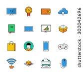 icons vector set. color line...