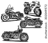 retro motorcycles vector... | Shutterstock .eps vector #302049572