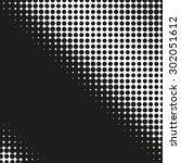 abstract dotted halftone effect ... | Shutterstock .eps vector #302051612