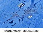 electronic circuit board close... | Shutterstock . vector #302068082