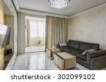 big and comfortable living room ... | Shutterstock . vector #302099102