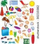 Beach Items Vectors