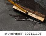 man sealing asphalt driveway | Shutterstock . vector #302111108