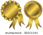 golden banners with ribbons on... | Shutterstock .eps vector #30211141