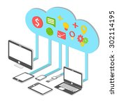 cloud storage service 3d vector ...