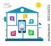 smart home concept vector...