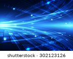 abstract vector future internet ... | Shutterstock .eps vector #302123126