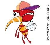 cartoon illustration of a red... | Shutterstock .eps vector #302141012