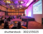 blurred conference room with... | Shutterstock . vector #302155025