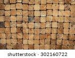 wooden stack | Shutterstock . vector #302160722