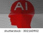 artificial intelligence is... | Shutterstock . vector #302160902