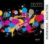 bright contrast splattered web... | Shutterstock .eps vector #302167532