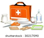 first aid kit. | Shutterstock .eps vector #30217090