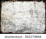 grunge scratched frame   Shutterstock . vector #302174846