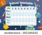 schedule. school timetable on... | Shutterstock .eps vector #302184332