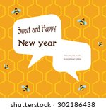 pattern of the bee on... | Shutterstock .eps vector #302186438