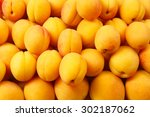 Ripe Apricots Background