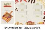 restaurant menu  template... | Shutterstock .eps vector #302188496