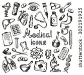 medical icons and elements of... | Shutterstock . vector #302191925
