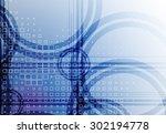 abstract tech background.... | Shutterstock .eps vector #302194778