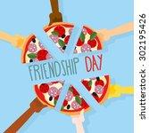 international friendship day.... | Shutterstock .eps vector #302195426