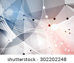 abstract tech background....   Shutterstock .eps vector #302202248