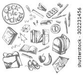 back to school drawings by hand ... | Shutterstock .eps vector #302231456