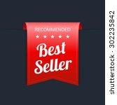 best seller red label | Shutterstock .eps vector #302235842