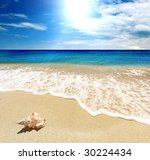 sea landscape   sea  golden... | Shutterstock . vector #30224434