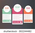 vector brochure flat set...
