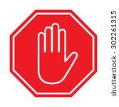 stop sign   vector illustration | Shutterstock .eps vector #302261315