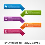 abstract business options... | Shutterstock .eps vector #302263958