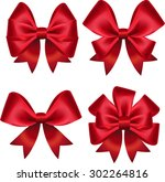 set of colorful gift bows.... | Shutterstock .eps vector #302264816