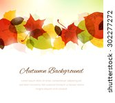 vector background with autumn... | Shutterstock .eps vector #302277272