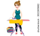 full body illustration of young ... | Shutterstock .eps vector #302285882