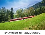 Railway On Rigi Mountain In...